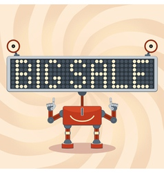Robot Sale Background vector image vector image