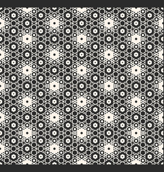 seamless pattern with hexagons monochrome vector image vector image
