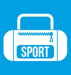 sports bag icon white vector image vector image