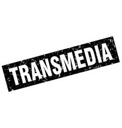 Square grunge black transmedia stamp vector