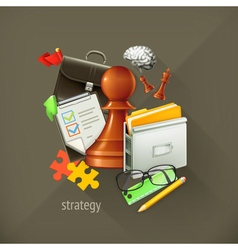 Strategy choice infographic vector image vector image