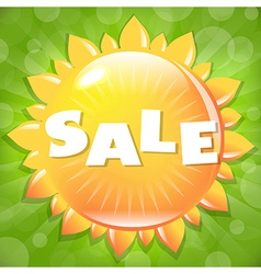 Summer And Spring Sale Poster vector image vector image
