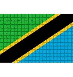 The mosaic flag of tanzania vector