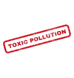 Toxic pollution rubber stamp vector