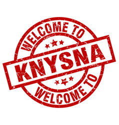 Welcome to knysna red stamp vector