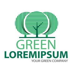 Logo green tree 2 vector image