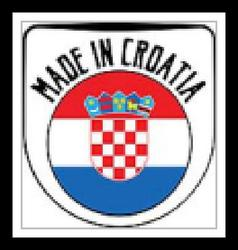 Made in Croatia rubber stamp vector image