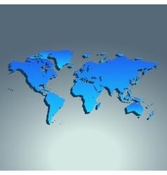 World map blue color Flat design vector image