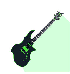 Acoustic electric guitar icons isolated vector