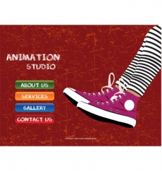 Animation studio vector