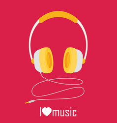 Headphones with cord vector