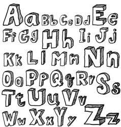 Font freehand vector