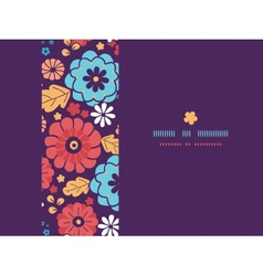 Colorful bouquet flowers horizontal seamless vector