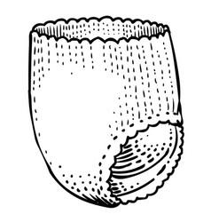 Cartoon image of diaper icon nappy symbol vector