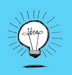 Concept of idea inspired bulb shape vector image