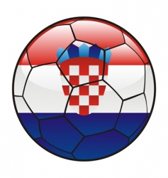 Croatia flag on soccer ball vector