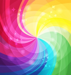 Rainbow bright background with rays3 vector image