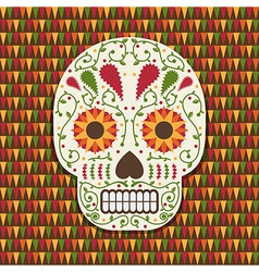 mexican skull decoration vector image