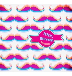 Hat and mustache background in modern style vector