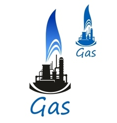 Gas and oil industry icon vector