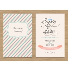 Save the date wedding invitation card vector
