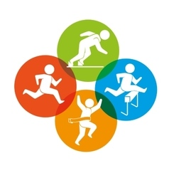 Sport games and fitness lifestyle graphic vector