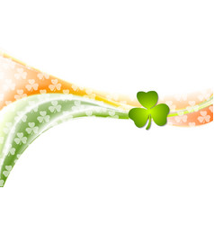 St patrick day wavy background with irish colors vector