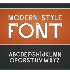 Label font modern style vector