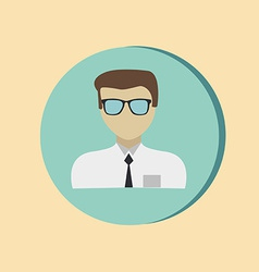 A male avatar Picture a man Round icon image guy vector image