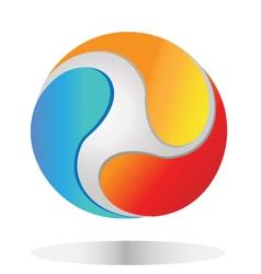 abstract global logo vector image vector image