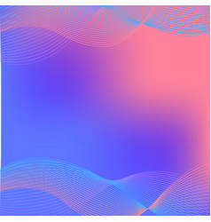 Background design with wavy lines in blue and pink vector