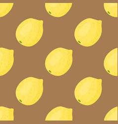cartoon fresh lemon fruits in flat style seamless vector image vector image