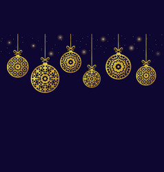 christmas balls ornaments xmas decoration vector image vector image