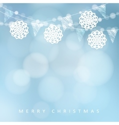 Christmas card Winter party decoration vector image vector image
