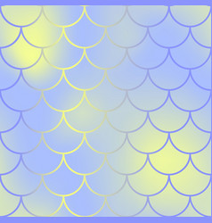 Contrast fish skin with scale pattern mermaid vector
