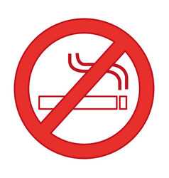 Denied cigarette signal isolated icon vector