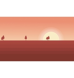 Desert at sunrise landscape vector