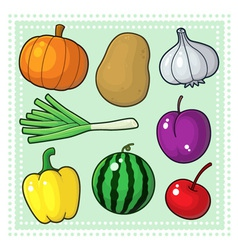 Fruits and Vegetables 04 vector image vector image