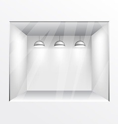 Glass shop gallery with lights vector image vector image