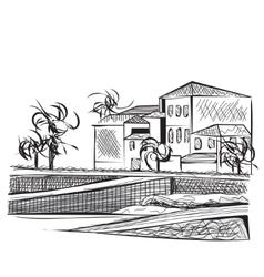 Hand drawn city vector image