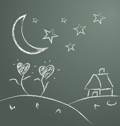 handwriting of children draw picture vector image vector image