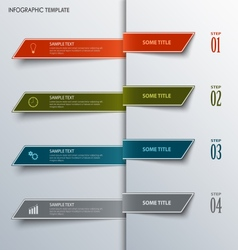 Info graphic with design colorful bookmarks vector