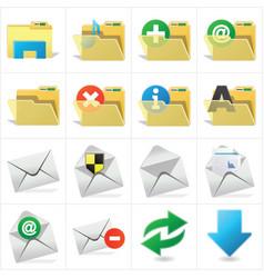 Lanscape folder vector