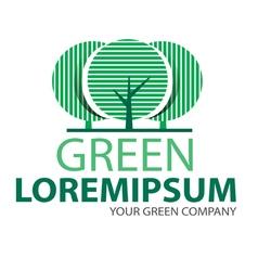 Logo green tree 2 vector
