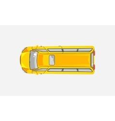 Minibus top view vector