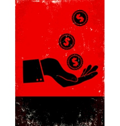 Money red poster vector image
