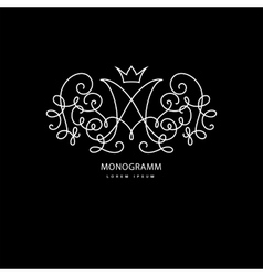 Monogramm with letter m vector