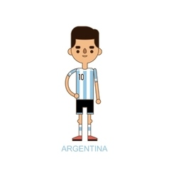 National euro cup argentina soccer football player vector