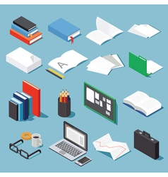 Office tools set 1 vector image vector image