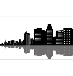 Silhouette of office buildings vector